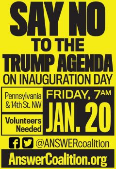 Arab Americans Organize with the ANSWER Coalition to Protest Trump Inauguration