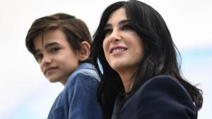 """Syrian actor Zain al-Rafeea (L) and Lebanese director and actress Nadine Labaki promote """"Capharnaum"""", which won the Jury Prize at the 71st edition of the Cannes Film Festival. AFP"""