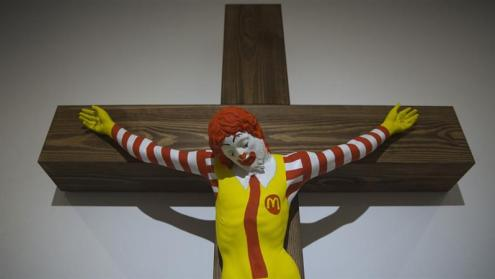 Arab Christians Protest 'McJesus' Sculpture in Israel