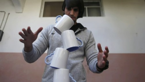 Palestinian Artist Masters Rare Skill of Balancing Objects