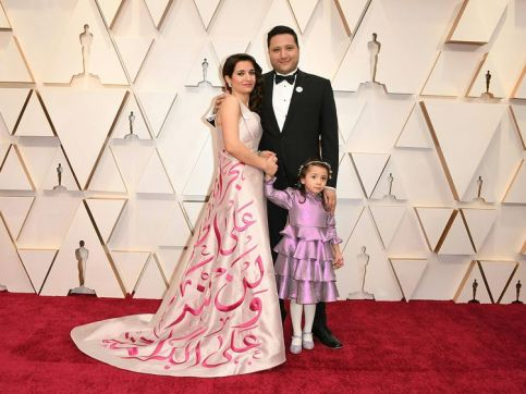 Oscars: Her Dress had a Message in Arabic for the World