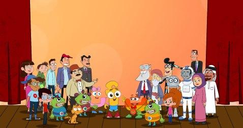 Fun Animated Characters to Promote Arabic Language use on Madrasa e-Learning Platform