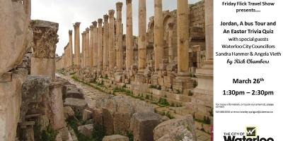 Friday Flicks Travel Show: Jordan, a Bus Tour and an Easter Trivia Quiz