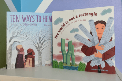 English-Arabic Storytime Online: Ten Ways to Hear Snow & The World Is Not A Rectangle