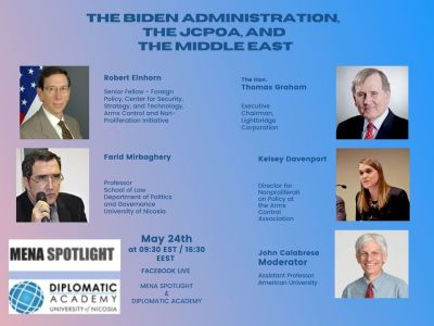 The Biden Administration, the JCPOA, and the Middle East