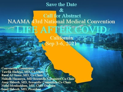 National Arab American Medical Association (NAAMA): National Convention Date and Call for Abstract
