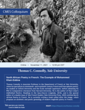 CMES Colloquium: North African Poetry in French: The Example of Mohammed Khaïr-Eddine