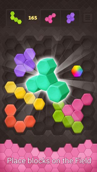 لعبة Hexus Puzzle لمحبي ألغاز الألوان