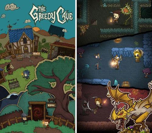لعبة The Greedy Cave قصة خيالية ممتعة
