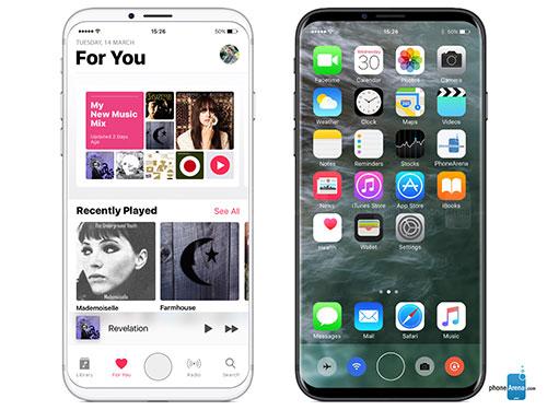 بالصور ، التصميم المتوقع لآيفون 8 بشاشة منحنية و بدون زر Home !