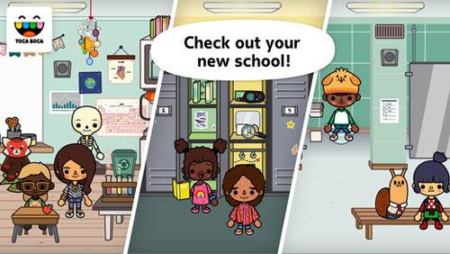 تطبيق Toca Life: School المناسب للأطفال