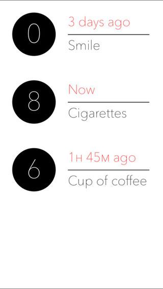 تطبيق Coffee & cigarettes للتحكم في شربك للقهوة والتدخين