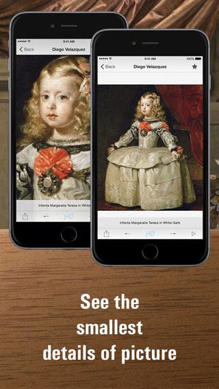 تطبيق Portrait painting HD للتعرف على التحف الفنية