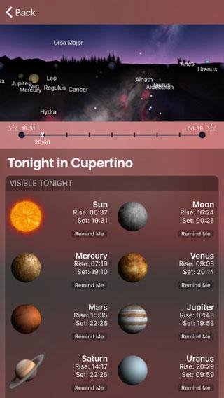تطبيق Night Sky 4 للمهتمين بالفلك والنجوم