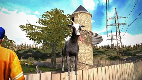 لعبة Goat Simulator الشهيرة