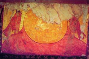 الاندماج مع قرص الشمس الذي يظهر في الأفق، مقبرة نفرتاري