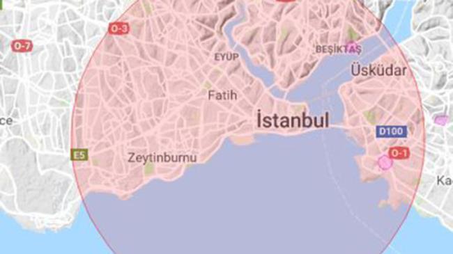 حظر الطيران فوق بعض مناطق اسطنبول 1