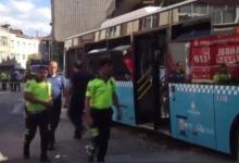 إصابات جراء خروج حافلة عامة عن مسارها وسط إسطنبول 7