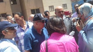 محافظ بورسعيد وليلي اسكندر