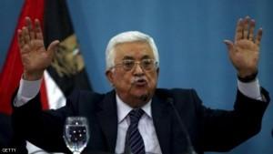 الرئيس الفلسطيني محمود عباس يدلي بتصريحات صحفية في رام الله يوم السبت. تصوير. محمد تركمان - رويترز