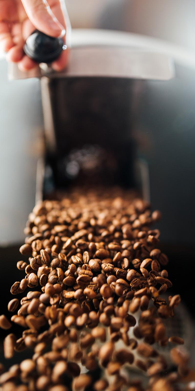 koffiebonen gebrand arabica verticaal
