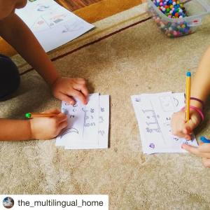Arabic Space Worksheets by The Multi-lingual Home on Instagram