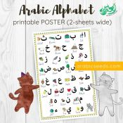 Arabic Alphabet POSTER printable - Arabic Seeds
