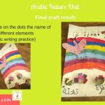 Arabic craft - nature theme, rainbow, flower, butterfly, bee