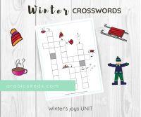 Arabic Winter Crosswords Printable - Arabic Seeds Kids