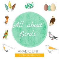 Arabic birds unit theme - printables, videos, audios, games - Arabic Seeds resources for kids