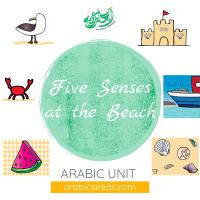 Arabic five senses beach summer unit theme - printables, videos, audios, games - Arabic Seeds resources for kids