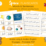 Space Flashcards & Sentences