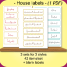 House Labels – rooms, objects, furniture