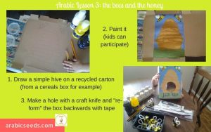 Arabic Bees and hive craft
