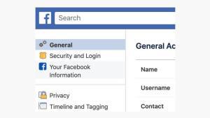 اذهب لإعدادات فيسبوك واختر معلوماتك على فيسبوك