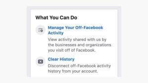 لوقف هذا التتبع نهائيا يمكنك الضغط على إدارة وقف فيسبوك لتتبع النشاطات
