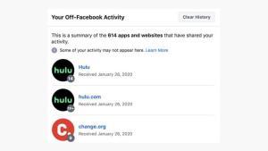 يمكنك محو هذه النشاطات من ذاكرة فيسبوك بالضغط على زر إلغاء الماضي