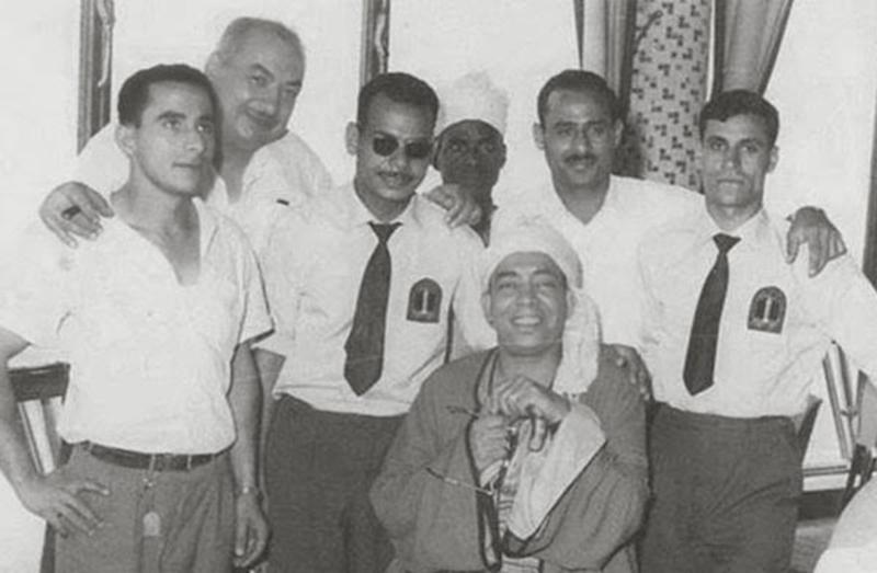 إسماعيل ياسين أثناء تصوير أحد أفلامه