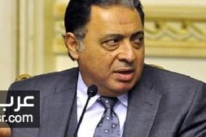 الدكتور احمد عماد الدين وزير الصحة يؤكد ان 19 سيارة اسعاف قامت بنقل المصابين بالروضة