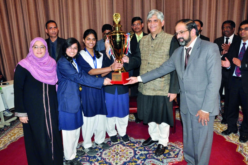 Indian School Girls Win Interschool Quiz Contest