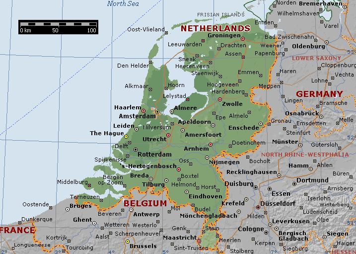 hollanda haritası ile ilgili görsel sonucu