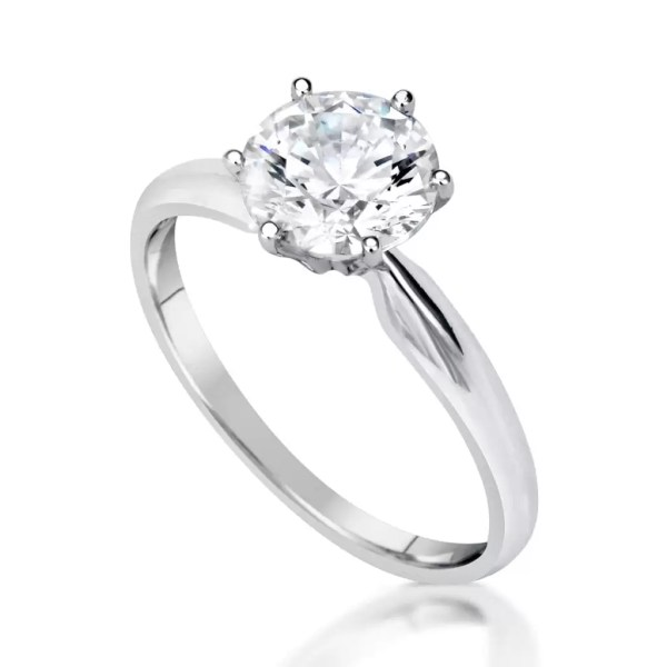 1.20 Ct Round Cut Vs1 Diamond Solitaire Engagement Ring 14K White Gold 2