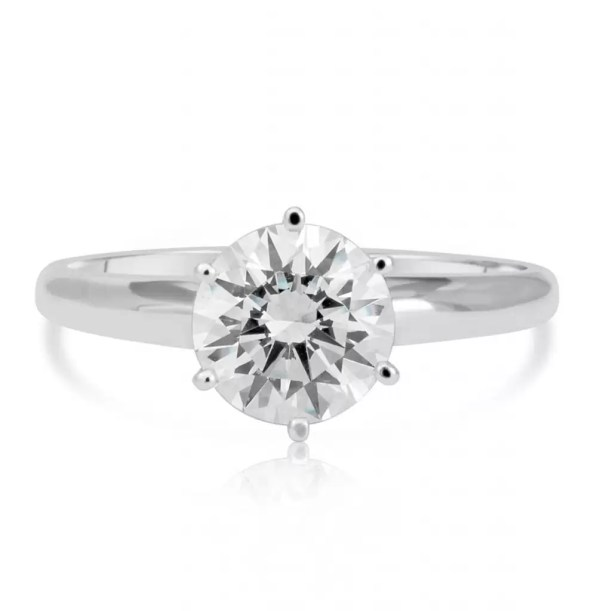 1.20 Ct Round Cut Vs1 Diamond Solitaire Engagement Ring 14K White Gold 3
