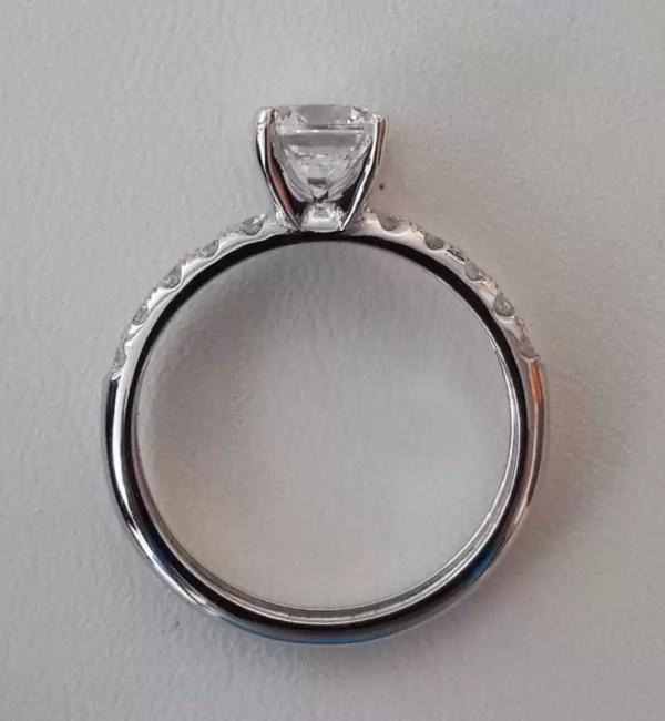 1.66 Carat Round Cut Diamond Engagement Ring 18K White Gold 4