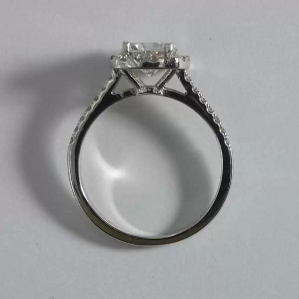 1.86 Carat Round Cut Diamond Engagement Ring 18K White Gold 4