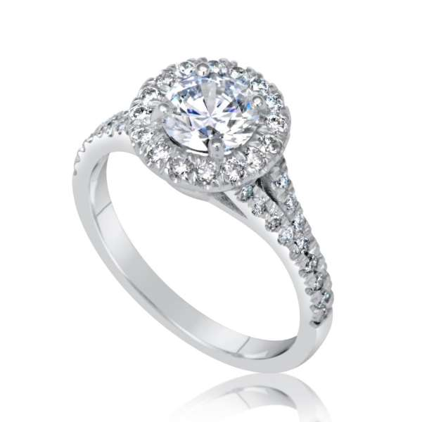 1.90 Ct Round Cut Diamond Solitaire Engagement Ring 18K White Gold 3
