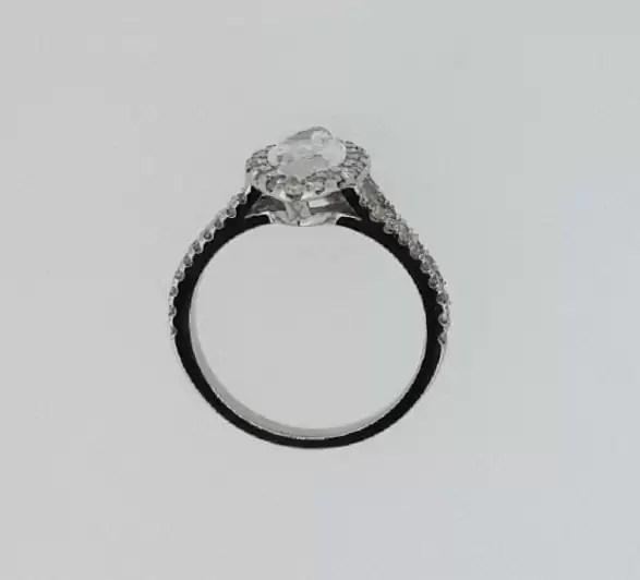 2 Carat Marquise Cut Diamond Engagement Ring 14K White Gold 2