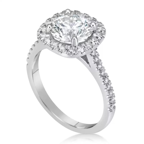 2.00 Ct Round Cut DVvs1 Diamond Solitaire Engagement Ring 18K White Gold 2