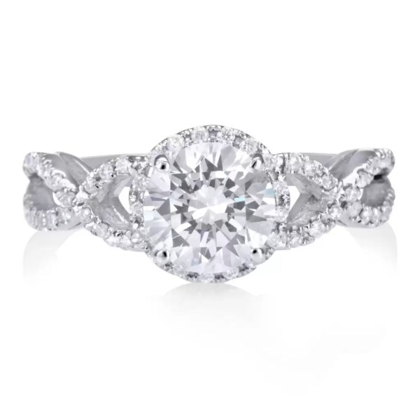 2.02 Ct Round Cut DSi Diamond Solitaire Engagement Ring 18K White Gold 2