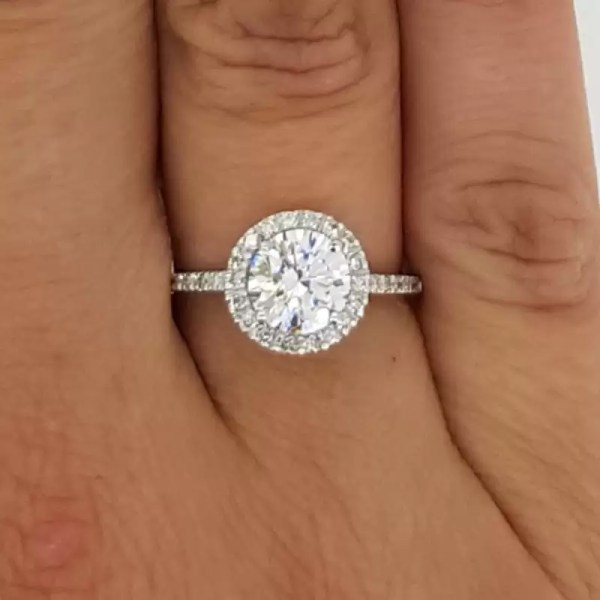 2.30 Ct Round Cut Diamond Solitaire Engagement Ring 18K White Gold